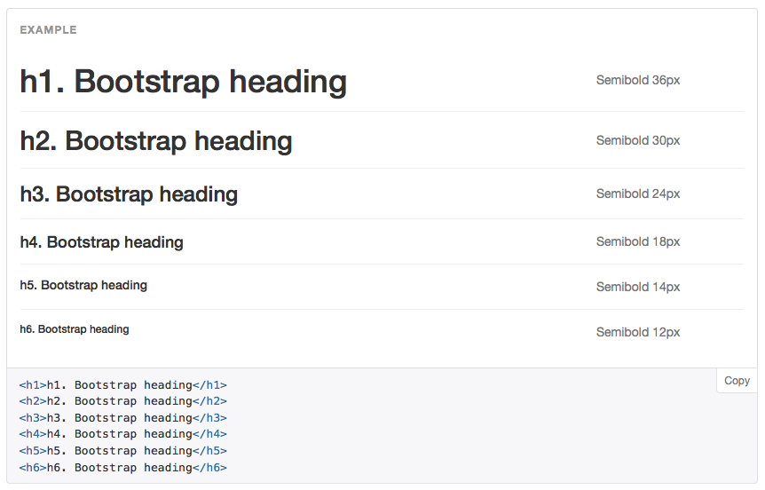 Bootstrap header styles