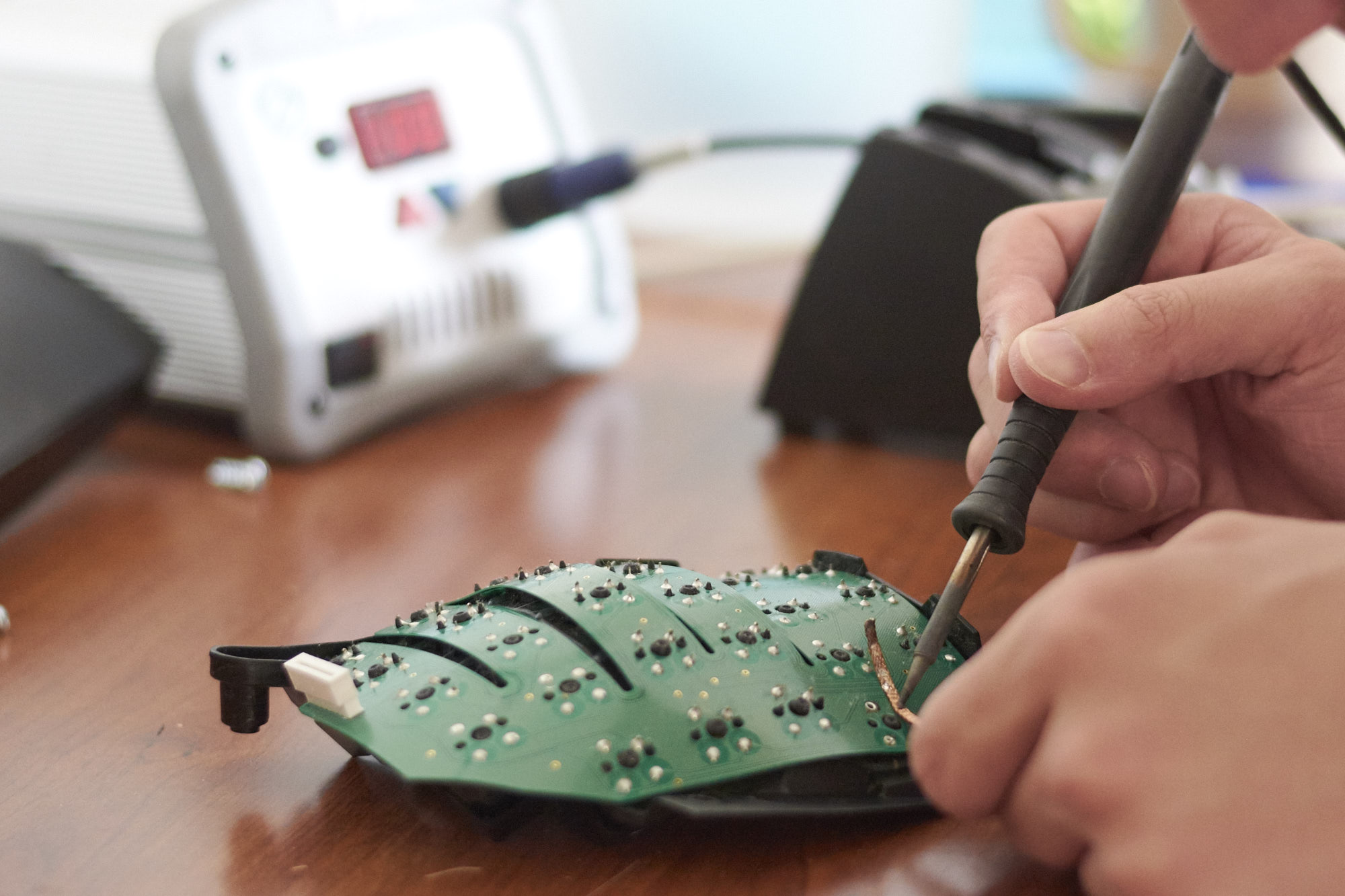 Desoldering the switch